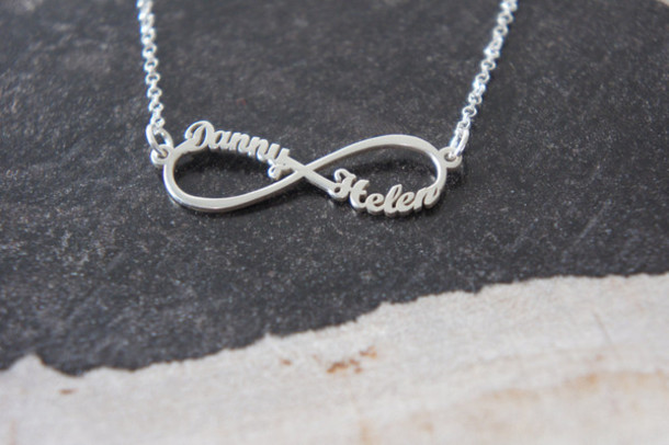 engraved names jewellery name online infinity silver necklace neck with kaya uk
