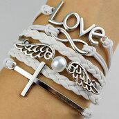 jewels,bracelets,white,sweet,pearl
