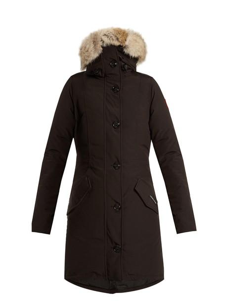 canada goose coat fur black