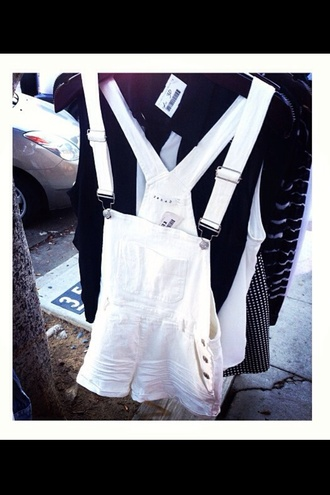 white overalls cute style fashion girly romper jeans