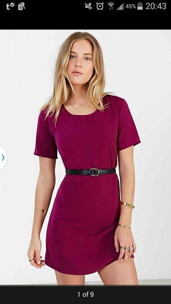dress a line dress dress t shirt dress love tank/t shirt dress t-shirt dress pink dress fuschia