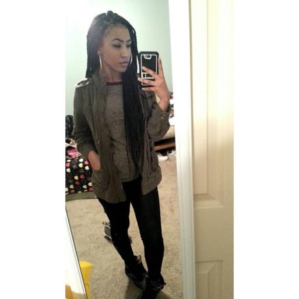 coat darkgreen jacket fashion