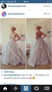 white dress,prom dress,no back dress,dress