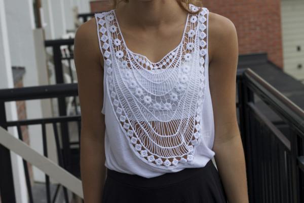 skirt lace tank top crochet crop top crochet boho shirt