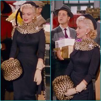bag leopard hand muff marilyn monroe style leopard cape