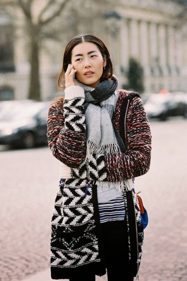 blogger bag vanessa jackman scarf knitted cardigan