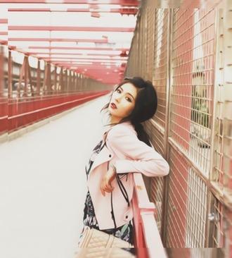 jacket hyuna singer pink pink jacket