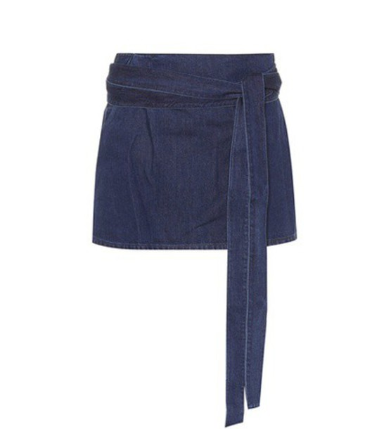 JW Anderson Cotton and linen miniskirt in blue