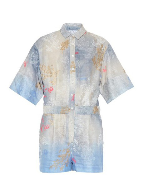 THIERRY COLSON cotton blue romper