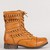 'Lyla' Woven Mid-Calf Lace-Up Boot | Luxelizzies | SIMPLE. FUN. AFFORDABLE. FASHION.