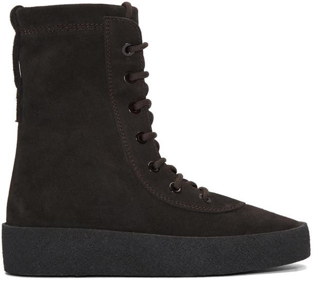 893eceecfa6 Yeezy Season 2 Brown Military Crepe Boots - Wheretoget