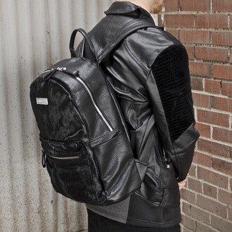 bag maniere de voir backpack ponyfur leather