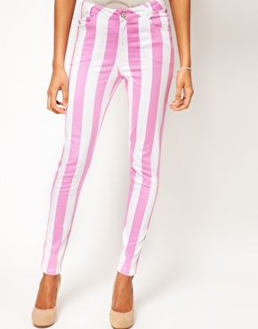 Motel jordan jeans candy stripe at asos