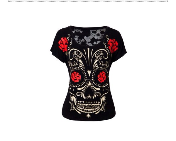t-shirt day of the dead tee
