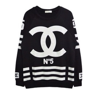 shirt coco chanel black white