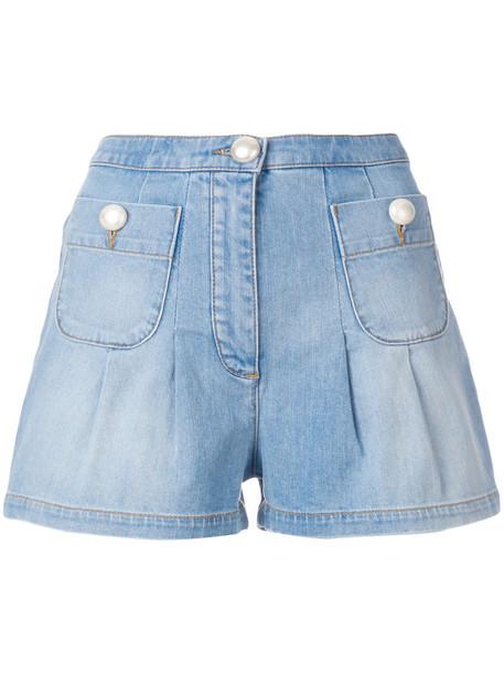 BOUTIQUE MOSCHINO shorts denim shorts denim women cotton blue