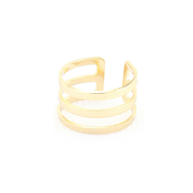 All lined up midi ring