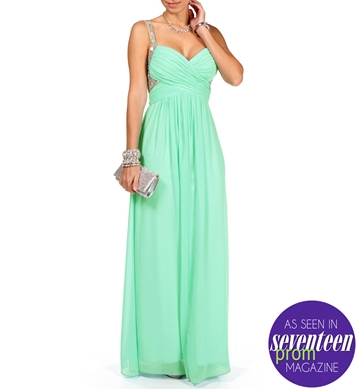 Mar-Seafoam Prom Dress