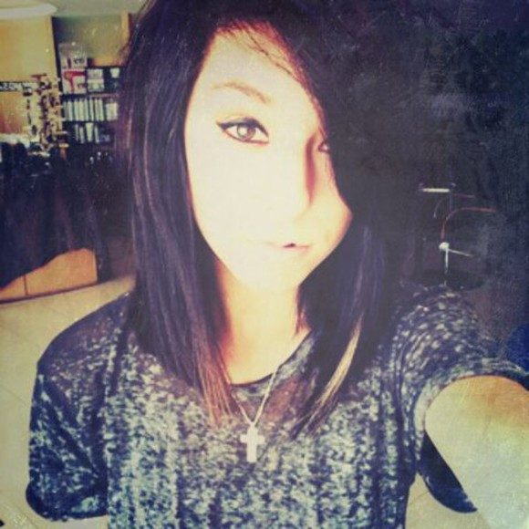 jewels cross necklace blouse t-shirt rock christina grimmie girly