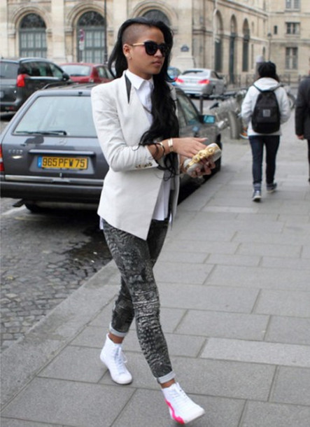 Wearing Cassie sneakers pictures