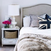 bedroom,tumblr bedroom,white,classic,home decor,bedding,union jack,decorative cushions