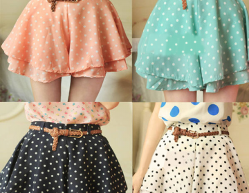Brand New Polka Dots Shorts With Belt ( Five Colors) on Luulla