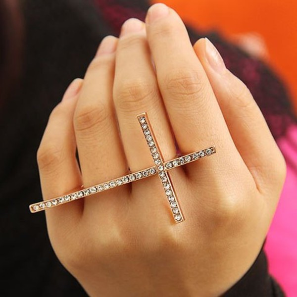 jewels cross ring cross rings