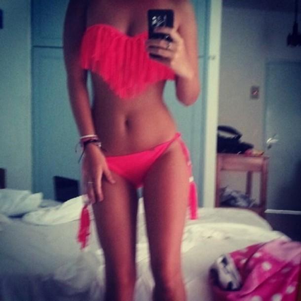 swimwear girl red