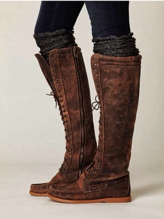 moccasins moccasin boots boots knee high boots winter boots shoes knee high socks