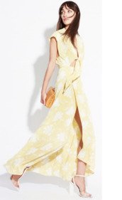 dress,reformation,cut-out,tie front,maxi