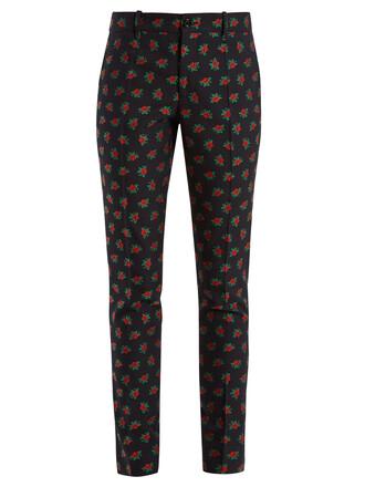 rose cotton navy pants
