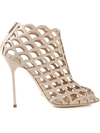cut-out sandals nude shoes
