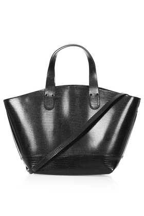 Lizard Tote Bag - Bags & Purses  - Bags & Accessories  - Topshop