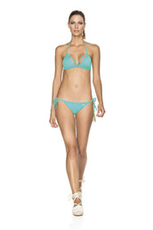 swimwear,agua bendita,azul-blue,blue,hand embroidered,side tie bottom,triangle top,bikini bottoms,bikiniluxe,top