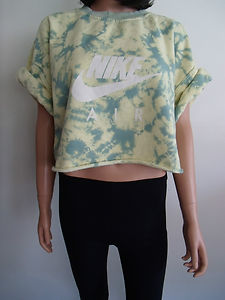 Vintage nike tie dye crop top sweatshirt t shirt 8 10 12 for Nike tie dye shirt and shorts