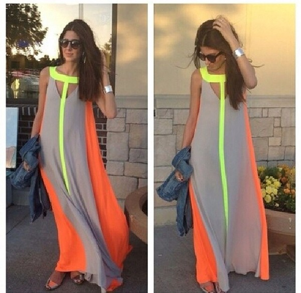 dress help i need to find this dress orange neon yellow beige dress max color chiffon grey neon maxi dress summer dress neon dress nude maxi bcbg style prom dress neon colors dress neutre long forestgle women dress bcbgmaxazria orange grey neon maxi dress