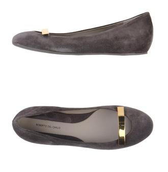 shoes dark ballerina flats detail classy roberto del carlo ballet flats