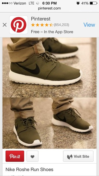 shoes army green nike