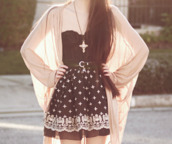 skirt,bustier,cardigan,black,belt,dress,shirt,cute,hipster,grunge,crosses