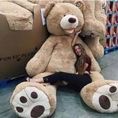 home accessory,giant,bear,teddy,giant teddy,dress,giant teddy bear,brown,light blue,teddy bear,huge,plush teddy bear,oversized teddy bear,tumblr,love,cute,brown cuddly bear