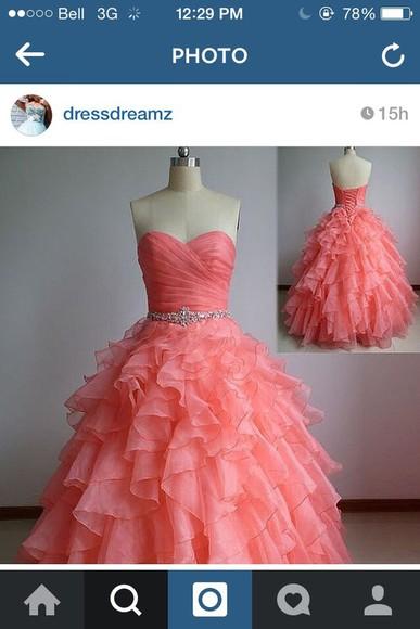 pink dress prom dress pink