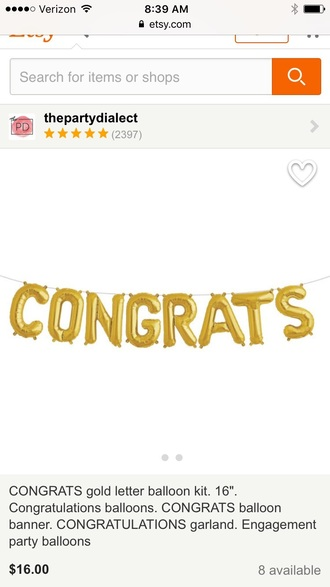 home accessory balloons congratulations gold apartment garland banner tumblr accessories girly dope wishlist dope