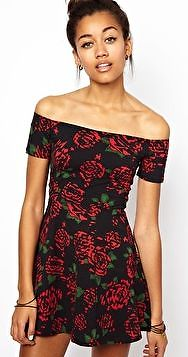 Motel Catalina Skater Dress In Tiger Rose Print - Size XS - SOLD OUT | eBay