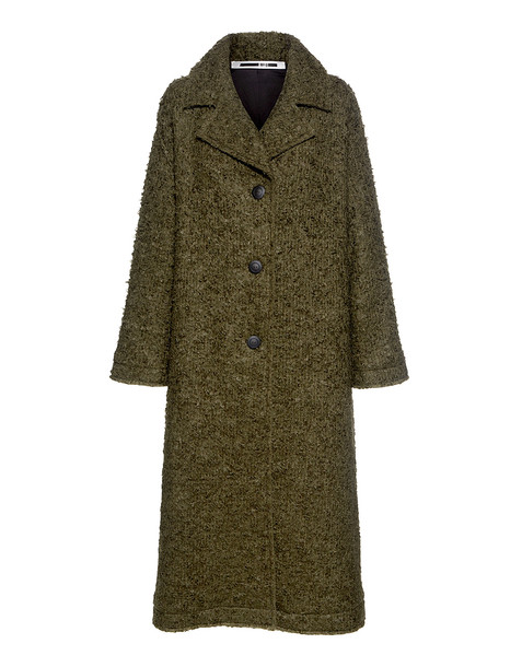 McQ Alexander McQueen coat oversized wool green