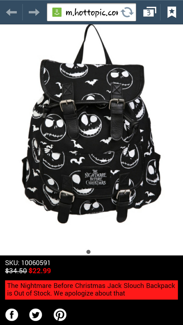 bag jack skellington