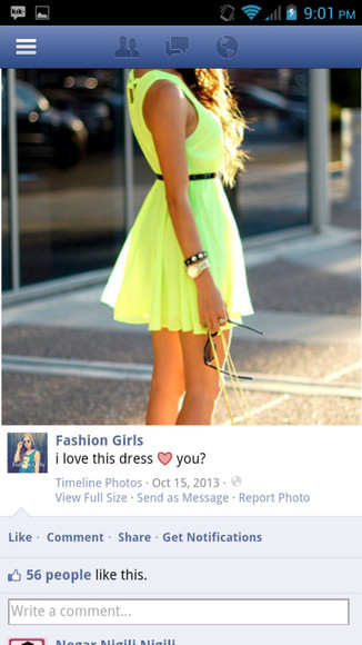 yellow dress highlighter highlighter dress yellow dress mini dress skater dress skater girl skirt