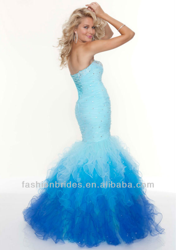 E0324 Fashion designed  mermaid prom dress 2013-in Evening Dresses from Apparel & Accessories on Aliexpress.com