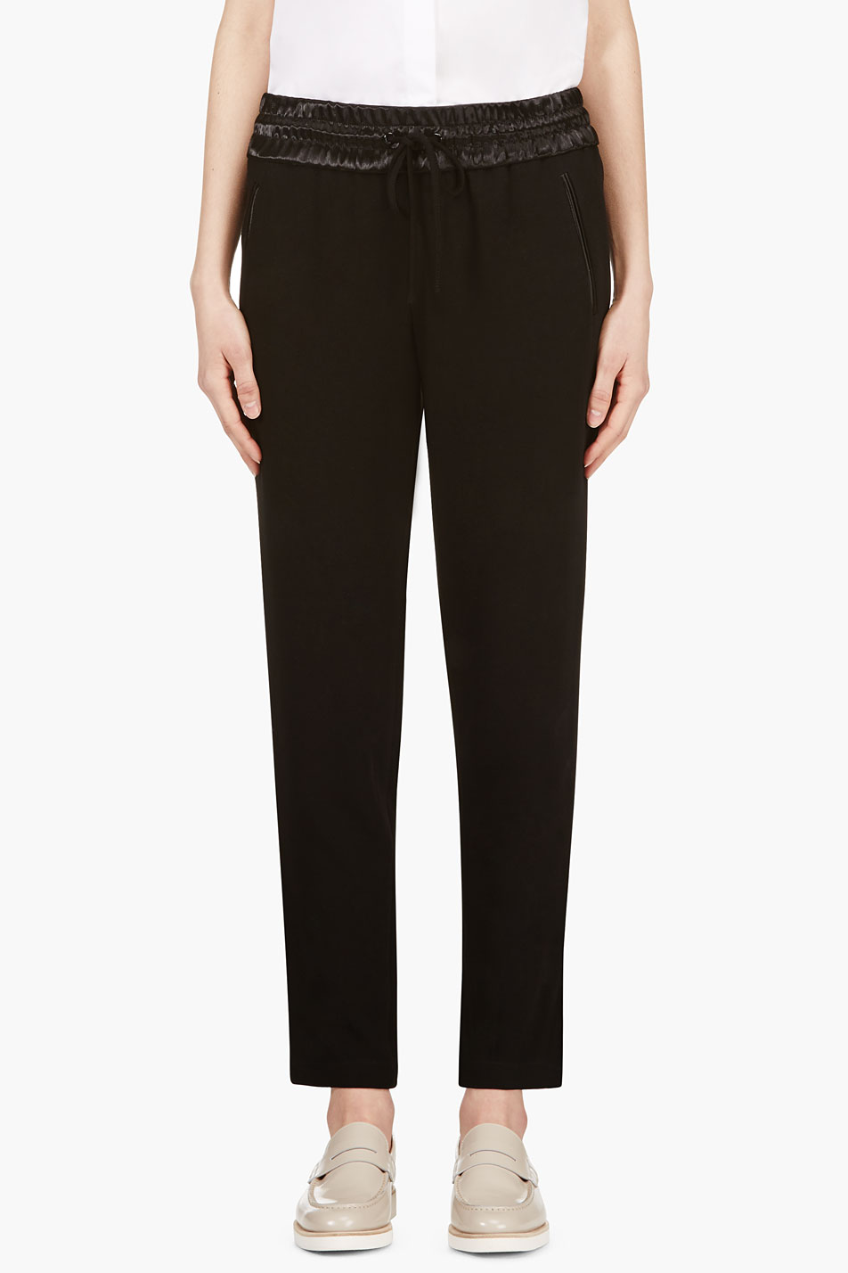 rag and bone black gollsy_trimmed easy trousers