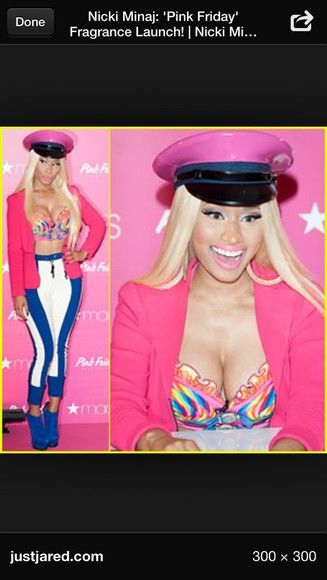 nicki minaj pants blazer hat shirt