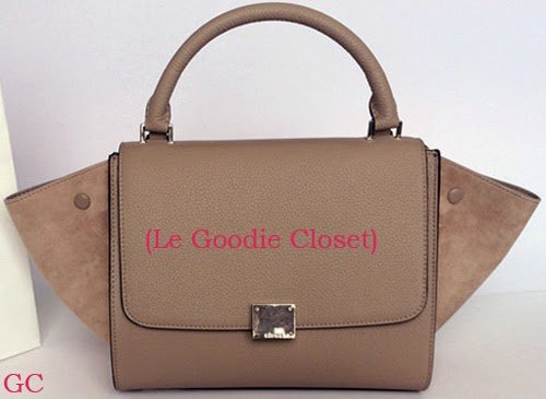 Sales! authentic celine small trapeze luggage